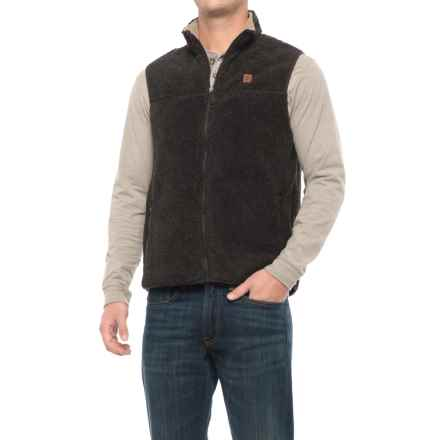Coleman Full-Zip Sherpa Fleece Vest (For Men) in Dark Brown Sherpa - Closeouts