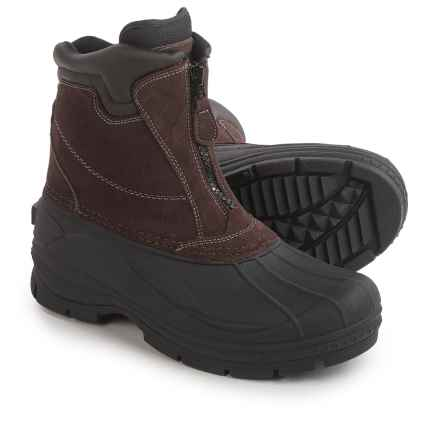 Coleman Glacier Thinsulate® Front Zip Duck Boots - Waterproof, Insulated (For Men) in Brown - Closeouts