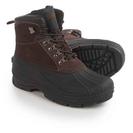 Coleman Glacier Thinsulate® Lace-Up Duck Boots - Waterproof, Insulated (For Men) in Brown - Closeouts