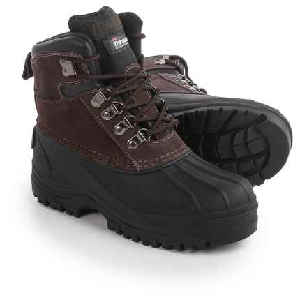 Coleman Glacier Thinsulate® Pac Boots - Waterproof, Insulated (For Little and Big Boys) in Brown - Closeouts