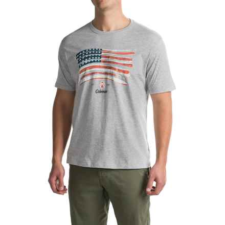 Coleman Graphic T-Shirt - Short Sleeve (For Men) in Grey Heather - Closeouts