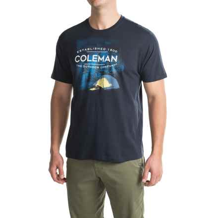 Coleman Graphic T-Shirt - Short Sleeve (For Men) in Navy - Closeouts