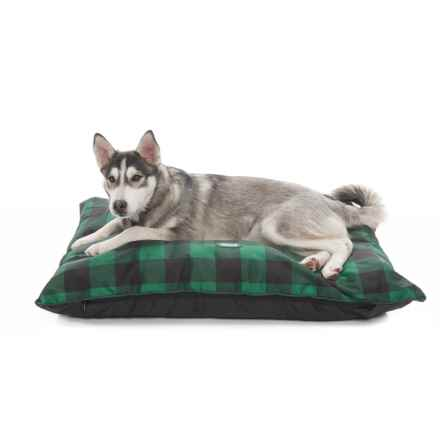 "Coleman Indoor-Outdoor Dog Bed - 36x27"" in Green Checker - Closeouts"