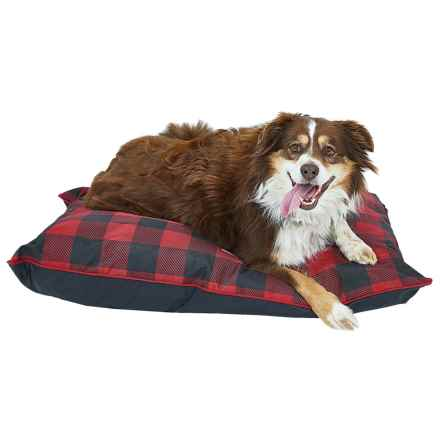 "Coleman Indoor-Outdoor Dog Bed - 36x27"" in Red Checker - Closeouts"