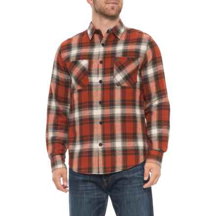 Coleman Plaid Flannel Shirt - Long Sleeve (For Men) in Rust - Overstock