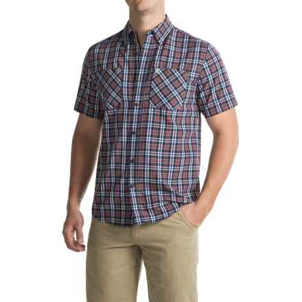 Coleman Plaid Guide Shirt - UPF 30+, Short Sleeve (For Men) in Red/Navy - Closeouts