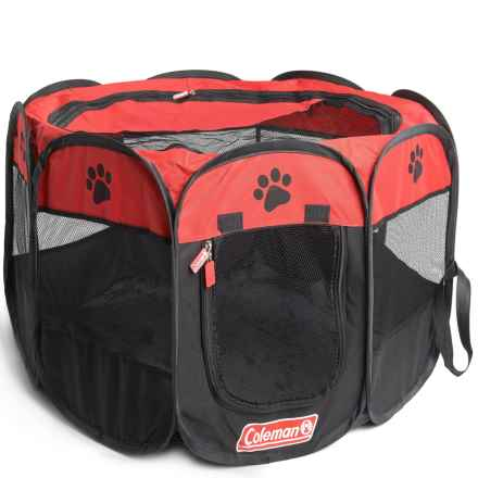 Coleman Pop Up Pet Playpen in Red/Black - Closeouts