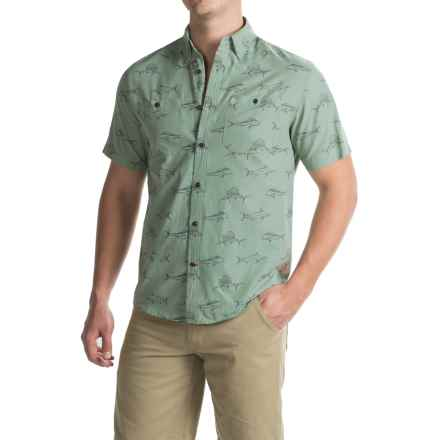 Coleman Printed Guide Shirt - UPF 30+, Short Sleeve (For Men) in Mineral Green - Closeouts