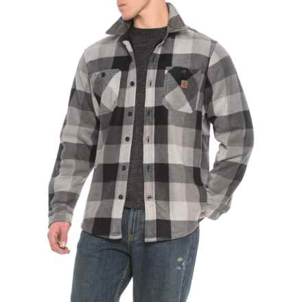 Coleman Printed Sherpa Bonded-Fleece Shirt Jacket (For Men) in Grey Check - Closeouts