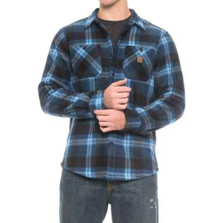 Coleman Printed Sherpa Bonded-Fleece Shirt Jacket (For Men) in Navy/Blue Plaid - Closeouts