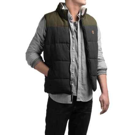 Coleman Quilted Microfiber Color-Block Vest - Insulated (For Men) in Black/Olive - Closeouts