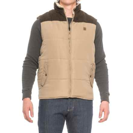 Coleman Quilted Vest - Insulated, Faux-Suede Yoke (For Men) in Driftwood - Closeouts