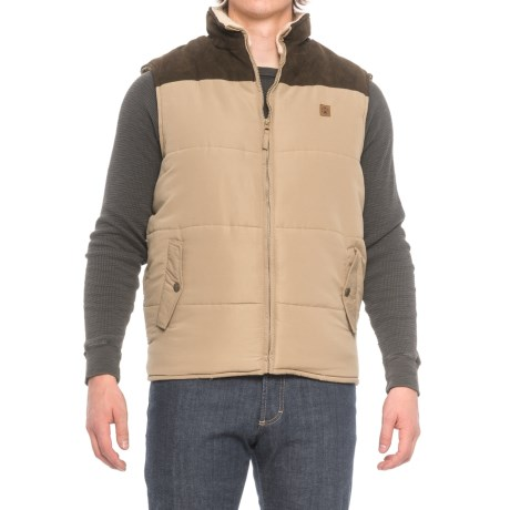 Coleman Quilted Vest - Insulated, Faux-Suede Yoke (For Men) in Driftwood