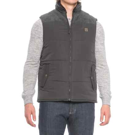 Coleman Quilted Vest - Insulated, Faux-Suede Yoke (For Men) in Raven - Closeouts