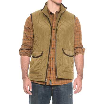 Coleman Quilted Vest - Insulated (For Men) in Driftwood - Closeouts