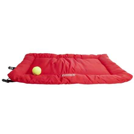 Coleman Roll-Up Dog Travel Bed in Red - Closeouts