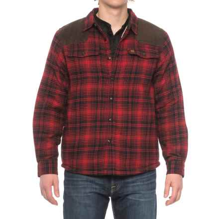 Coleman Sherpa-Lined Flannel Shirt Jacket (For Men) in Black/Red Plaid - Closeouts