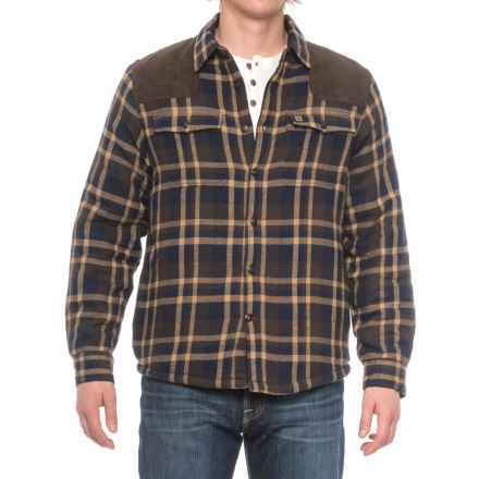 Coleman Sherpa-Lined Flannel Shirt Jacket (For Men) in Brown/Navy - Closeouts