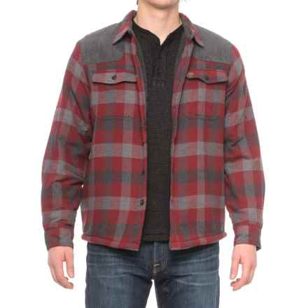 Coleman Sherpa-Lined Flannel Shirt Jacket (For Men) in Red/Grey Plaid - Closeouts