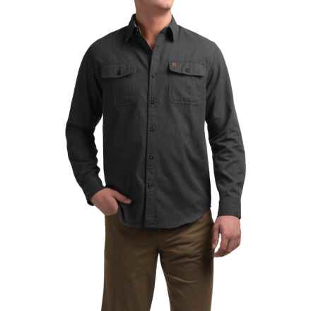 Coleman Solid Flannel Shirt - Long Sleeve (For Men) in Anchor Grey Heather - Closeouts