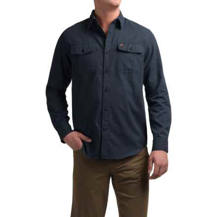 Coleman Solid Flannel Shirt - Long Sleeve (For Men) in Navy Heather - Closeouts