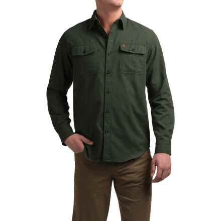 Coleman Solid Flannel Shirt - Long Sleeve (For Men) in Olive Heather - Closeouts