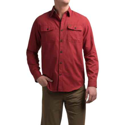 Coleman Solid Flannel Shirt - Long Sleeve (For Men) in Red Heather - Closeouts