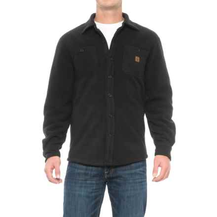 Coleman Solid Sherpa Bonded-Fleece Shirt Jacket (For Men) in Black - Closeouts