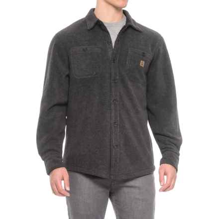 Coleman Solid Sherpa Bonded-Fleece Shirt Jacket (For Men) in Charcoal Heather - Closeouts