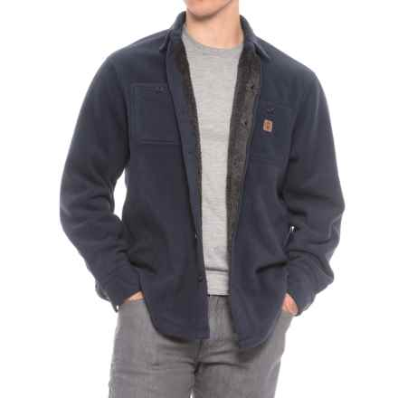 Coleman Solid Sherpa Bonded-Fleece Shirt Jacket (For Men) in Navy - Closeouts