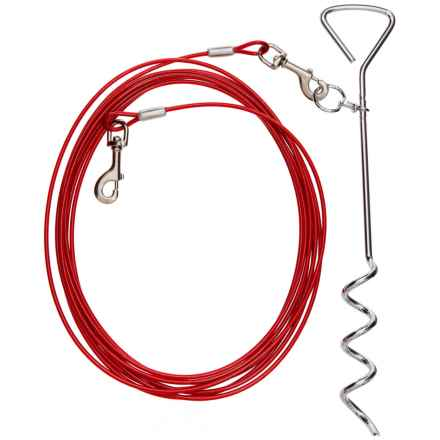 Coleman Stake and Cable Tie Out - 25' in Red - Closeouts