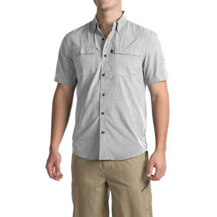 Coleman Stretch Chambray Fishing Shirt - UPF 30, Short Sleeve (For Men) in Light Grey Chambray - Closeouts