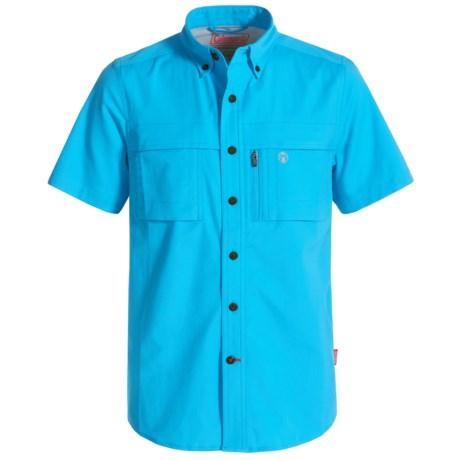 Coleman Stretch CVC Guide Shirt - UPF 30, Short Sleeve (For Big Boys) in Malibu Blue