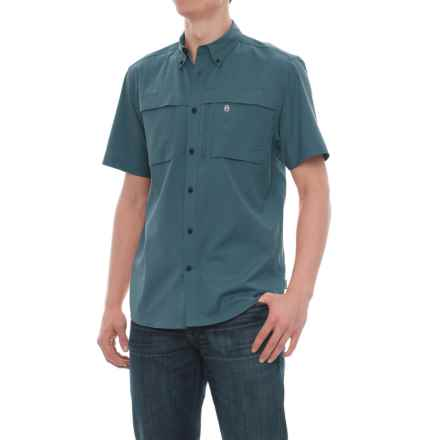 Coleman Stretch CVC Guide Shirt - UPF 30, Short Sleeve (For Men) in Blue Dusk - Closeouts