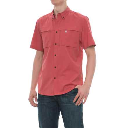 Coleman Stretch CVC Guide Shirt - UPF 30, Short Sleeve (For Men) in Mineral Red - Closeouts