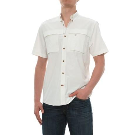 Coleman Stretch CVC Guide Shirt - UPF 30, Short Sleeve (For Men) in Off White