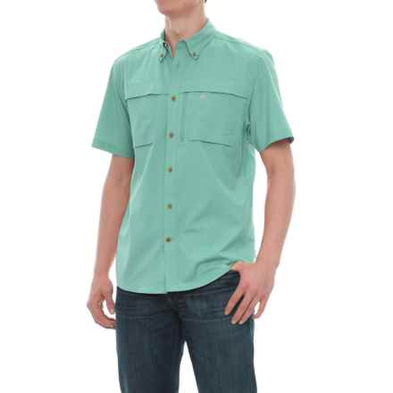Coleman Stretch CVC Guide Shirt - UPF 30, Short Sleeve (For Men) in Pale Aqua - Closeouts