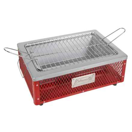 Coleman Tabletop Charcoal Grill in Red/White - Closeouts