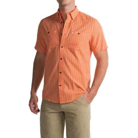 Coleman Textured Guide Shirt - UPF 30+, Short Sleeve (For Men) in Sunset Orange - Closeouts