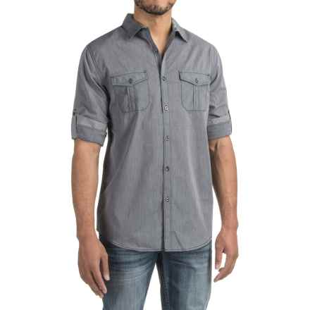 Collared Two-Pocket Shirt - Roll-Up Long Sleeve (For Men) in Total Eclipse - 2nds