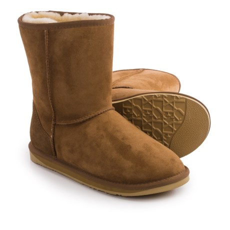 Image of Collective Cosy Short Boots - Suede, Sheepskin Lined (For Men)