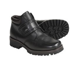 College by Regence Hiker Leather Boots - Wool Lining (For Women) in Black
