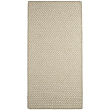Colonial Mills All-Natural Houndstooth Wool Accent Rug - 2x4' in Beige Linen - Closeouts