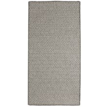 Colonial Mills All-Natural Houndstooth Wool Accent Rug - 2x4' in Smoke Gray - Closeouts