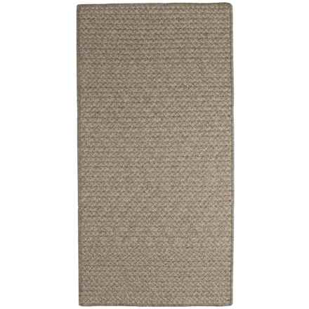 Colonial Mills All-Natural Houndstooth Wool Area Rug - 5x8' in Camel - Closeouts