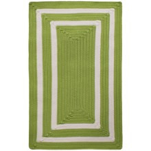 "Colonial Mills Braided Indoor/Outdoor Accent Rug - 27x46"", Bordered Delight in Lime - Overstock"