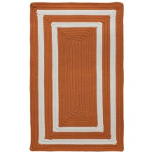"Colonial Mills Braided Indoor/Outdoor Accent Rug - 27x46"", Bordered Delight in Tangerine - Overstock"