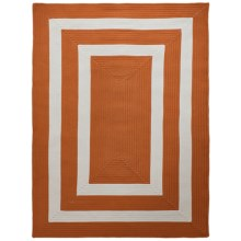 Colonial Mills Braided Indoor/Outdoor Area Rug - 5x7', Bordered Delight in Tangerine - Overstock