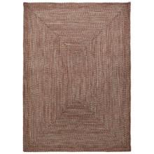 Colonial Mills Braided Indoor/Outdoor Area Rug - 5x7', Rustic Tweed in Terracotta - Overstock