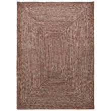 Colonial Mills Braided Indoor/Outdoor Area Rug - 5x7', Rustic Tweed in Terracotta - Overstock